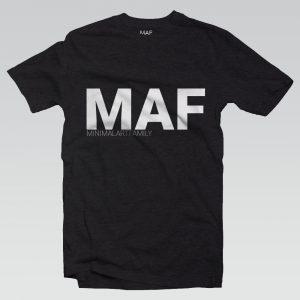 MAF FELIRAT FEKETE FRONT MINIMAL ART FAMILY