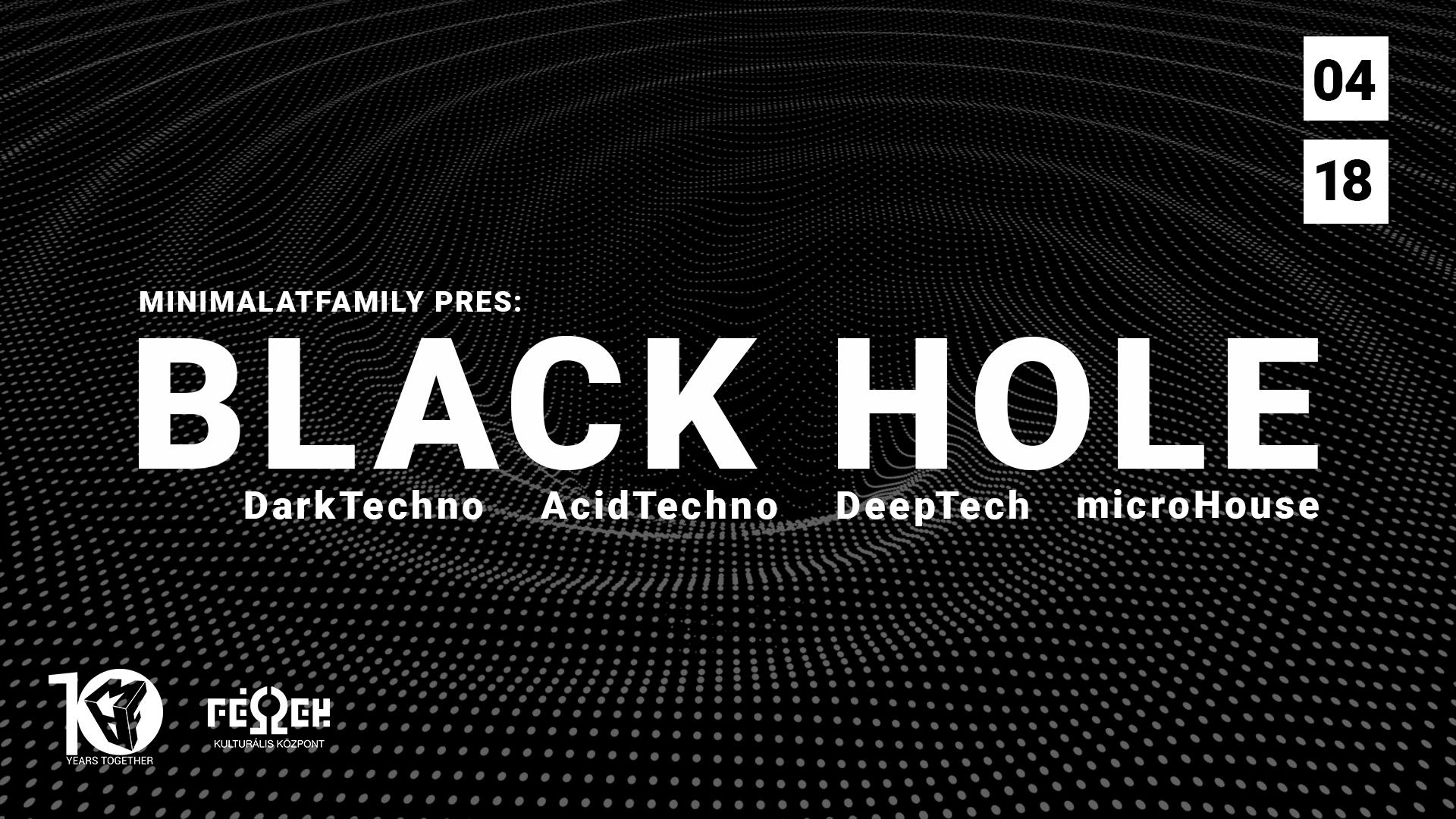 black hole cover minimal art family maf tv fészek